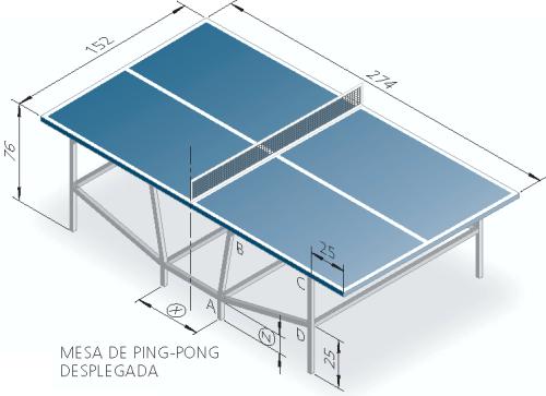 0c4e2b486 mesa reglamentaria de ping-pong plegable mediante barras articuladas ...